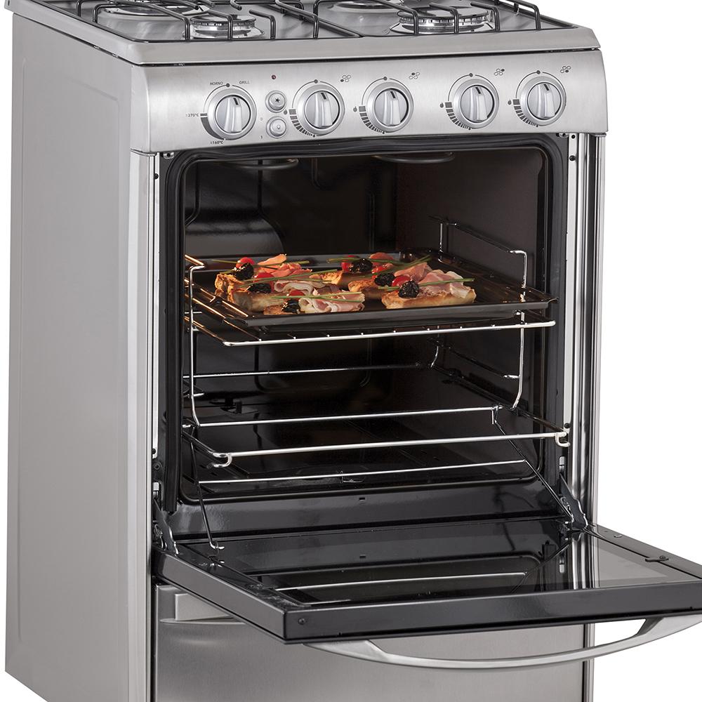 Cocina 56 cm acero inoxidable patrick for Cocinas 70 cm ancho argentina